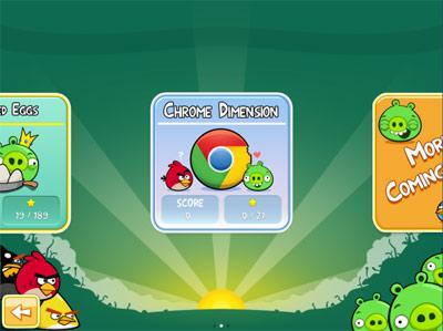 Angry Birds sur Chrome Web Store