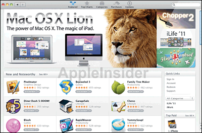 Mac OS lion en ligne