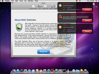 Le scareware Mac Defender