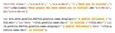 Google Circles bout de code