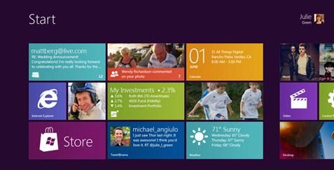 Interface Windows 8