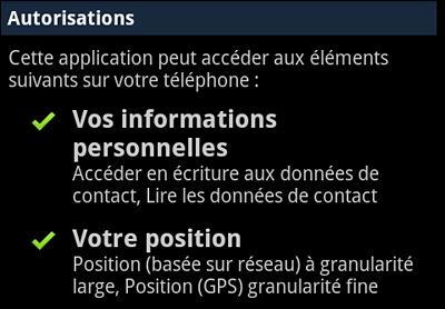 Localisation sur un téléphone Android