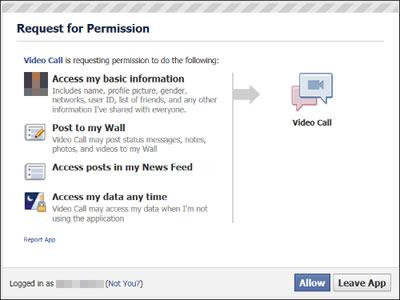 Alerte Sophos Facebook service chat vidéo