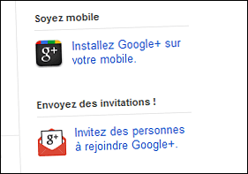 Invitations à Google plus