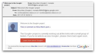 Spam Google +