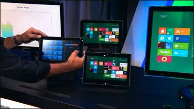 Windows 8 sur des tablettes