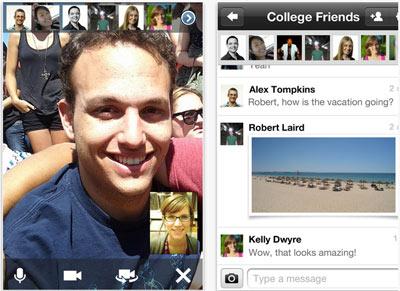 Video-bulles dans Google + pour iOS