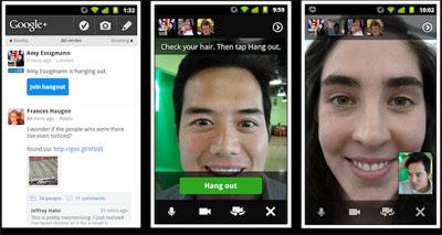 Google Plus nouveautés vidéo bulles