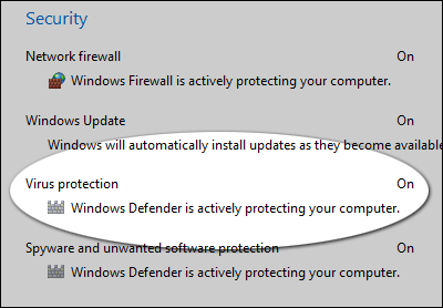 Un antivirus dans Windows 8