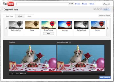 Editeur Vidéo intégré à Youtube