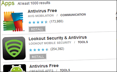 Antivirus pour Android