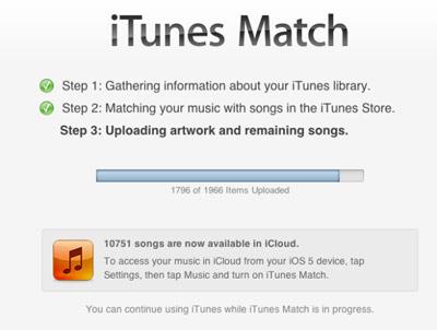 iTunes Match iTunes 10.5.1