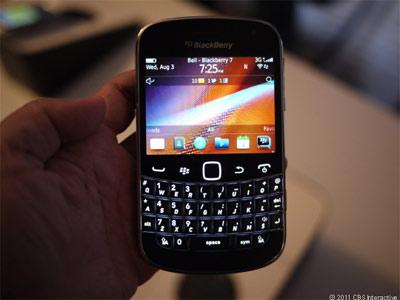 Blackberry feuille de route 2012
