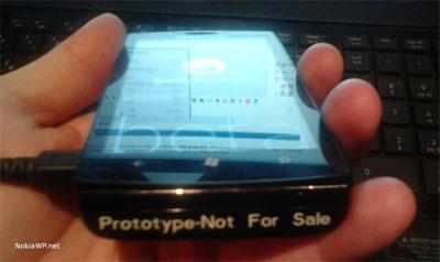 Prototype smartphone Sony Windows Phone