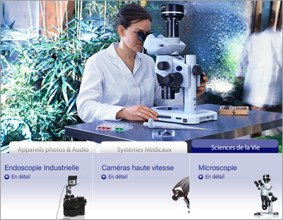 Olympus dans la photo, la science, l'image et l'industrie