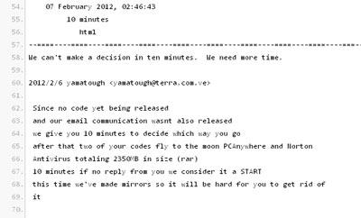 Symantec Anonymous code source Norton antivirus et PCAnywhere