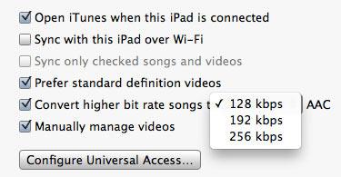 Qualité audio iTunes