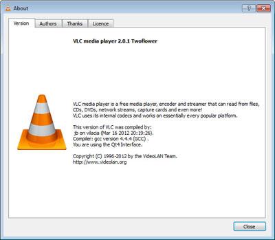 VLC Media Player 2.0.1