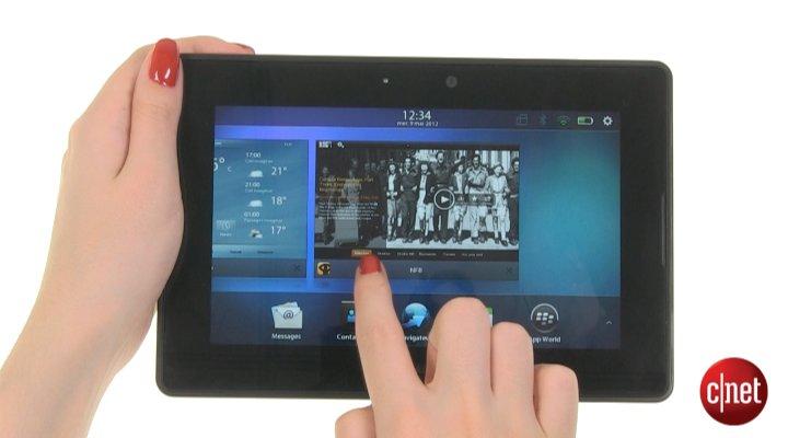 Démo de BlackBerry PlayBook