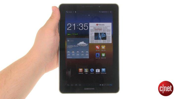 Démo de la Samsung Galaxy Tab 7.7
