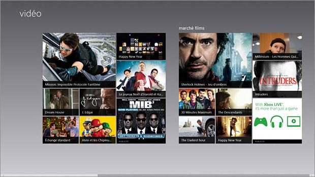 Vidéos dans Windows 8