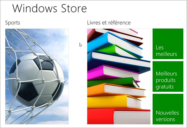 Applications Windows 8 Store