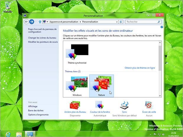Thèmes Windows 8
