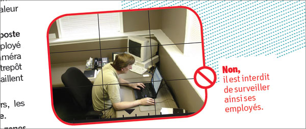 Video surveillace au travail
