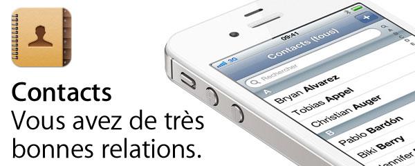 Sécurite du répertoire iPhone