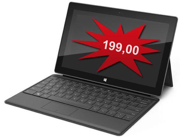 La tablette surface à 199 dollars