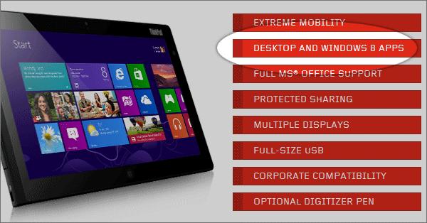 Promotion de la tablette Lenovo