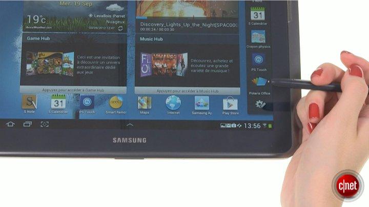 Démo de Samsung Galaxy Note 10.1