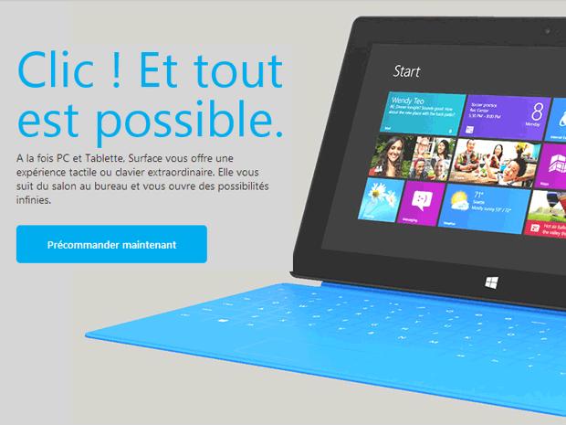 1.5 million de tablettes Microsoft Surface vendu, le succès n'est pas au rendez-vous