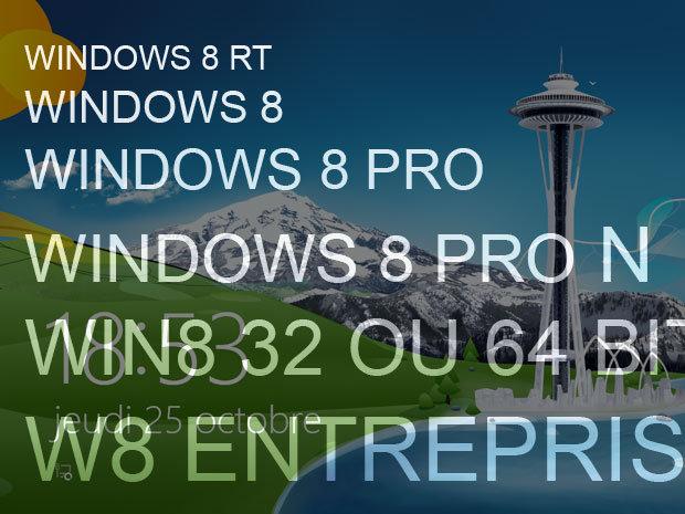Quelle version de Windows 8 choisir ?