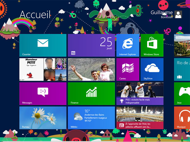 Windows 8 : test d'un système pour les doigts et les souris