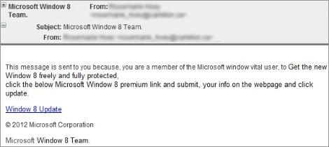 Phishing Windows 8
