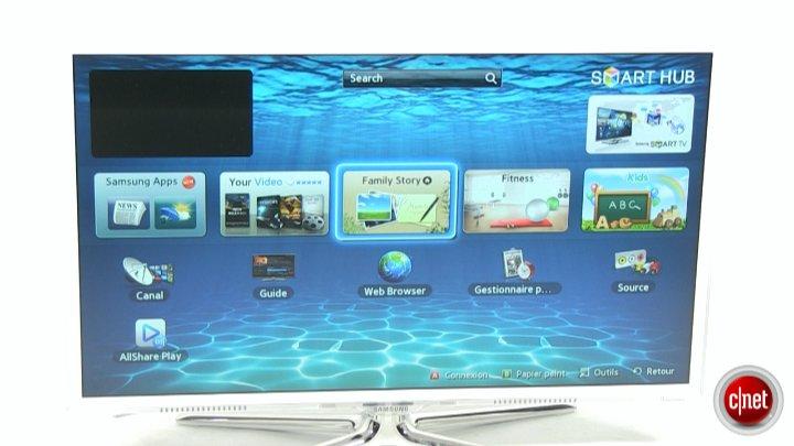 Démo de la TV Samsung UE32ES6710