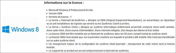 Licence revendeurs Windows 8