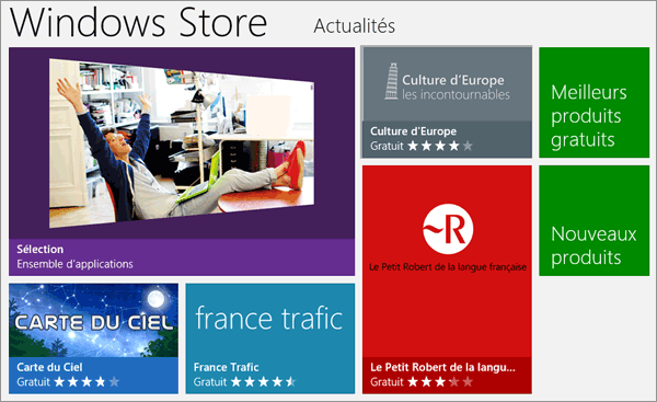 Store dans Windows 8