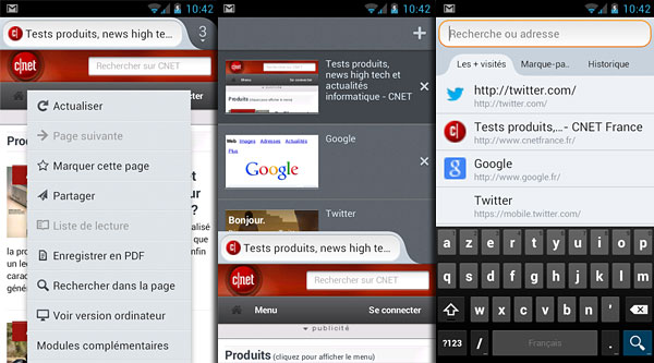 Firefox sous Android 4