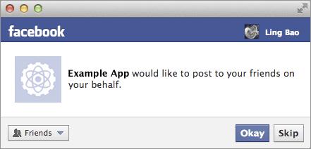 Permission appli facebook