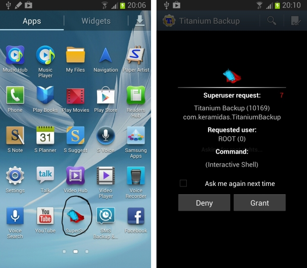 Application SuperUser