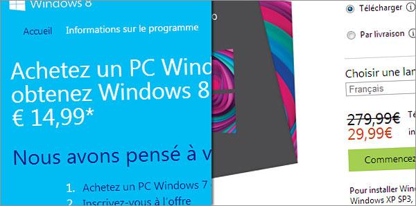 Windows 8 en promotion