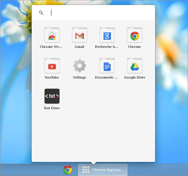 Lanceur d'applications de Chrome