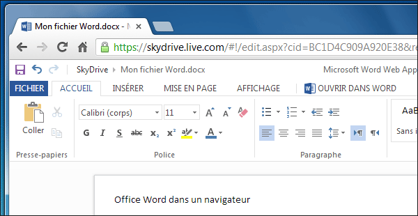 Skydrive web apps