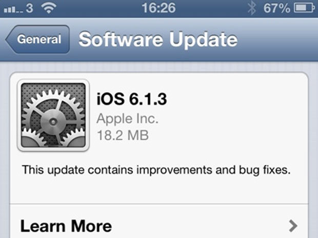 iOS 6.1.3 disponible pour corriger la faille de déverrouillage des iPhone