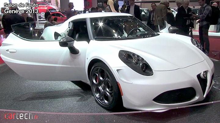 Genève 2013 : Alpha Romeo 4C