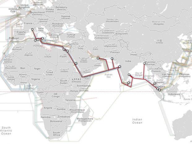 Câbles Internet sous-marins : plusieurs pays affectés par une rupture