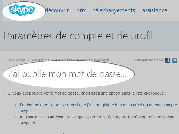 Skype : une faille permet de dérober un compte via un changement de mot de passe
