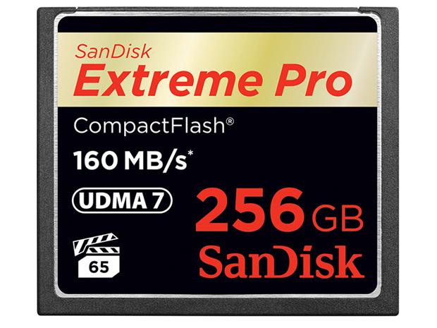 Sandisk lance une carte Compact Flash Extreme Pro de 256 Go